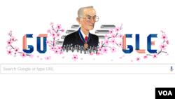 """(网页截图) """"谷歌涂鸦""""纪念民权领袖弗雷德•是松。"""