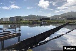FILE - The Puerto La Cruz oil refinery is seen in Puerto La Cruz, Venezuela July 18, 2018.
