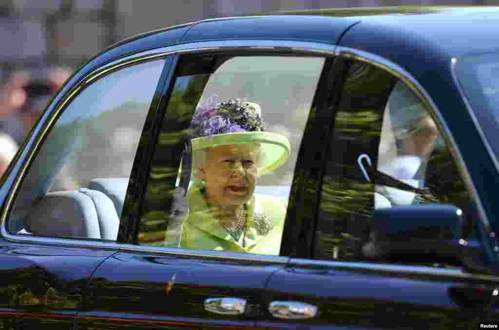 Королева Елизавета II в Виндзорском замке
