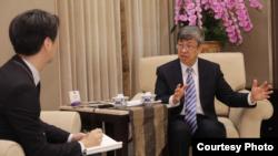 台灣副總統陳建仁2020年2月27日接受日本產經新聞專訪(台灣總統府提供)