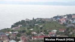 Vue du Lac Kivu à Goma, RDC