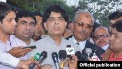 وفاقی وزیر داخلہ چودھری نثار علی خان