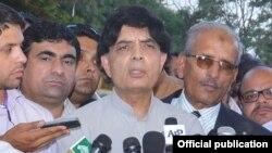وفاقی داخلہ چودھری نثار علی خان