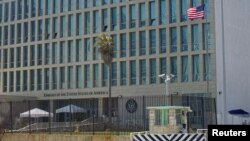 FILE - A view of the U.S. Embassy in Havana, Cuba, Sept. 18, 2017.