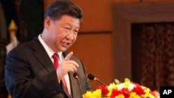 Chủ tịch Trung Quốc Tập Cận Bình phát biểu tại khách sạn Soltee ở Kathmandu, Nepal, ngày 12/10/2019.
