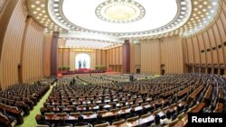 지난해 6월 북한 평양에서 열린 제13기 최고인민회의4차 회의.