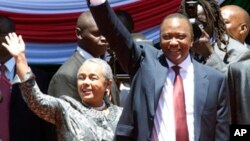Margaret Kenyatta (kushoto) mke wa rais wa Kenya