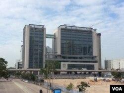 香港西九龙法院 (美国之音记者申华 拍摄)