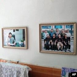 石春陽家牆壁上的習近平照片