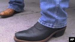 Cowboy boots at the annual Houston Livestock Show and Rodeo