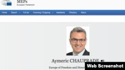 Емерік Шопрад став депутатом Європейського парламенту 2014 р. у Франції від партії Національний фронт