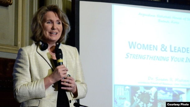 "Susan Madsen, who teaches at Utah Valley University, says women's approach to leadership is different than men's. ""Generally speaking, women are just more collaborative,"" she said."