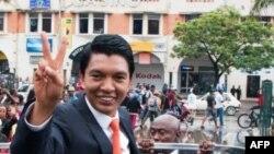 Le président Andry Rajoelina à Analakely, à Madagascar, le 8 janvier 2019.