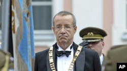 Estonian President Toomas Hendrik Ilves after being sworn in for his second term in Tallinn, Oct. 10, 2011