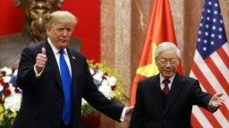 Tổng thống Donald Trump và Tổng Bí thư Chủ tịch nước Nguyễn Phú Trọng.