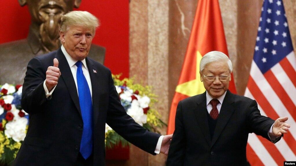 Tổng bí thư, Chủ tịch nước Việt Nam Nguyễn Phú Trọng và Tổng thống Hoa Kỳ Donald Trump.