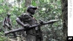 Un membre de la milice Hutu, en République démocratique du Congo, le 4 avril 2012.