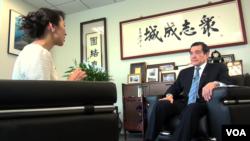 美国之音2019年1月在台北专访台湾前总统马英九。(美国之音钟睿哲拍摄)