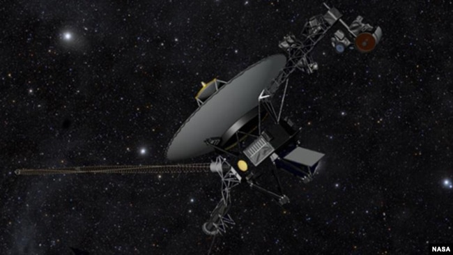 This artist's concept shows NASA's Voyager spacecraft against a backdrop of stars. (Image credit: NASA/JPL-Caltech)