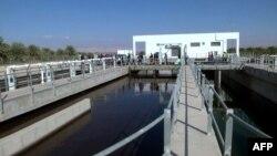 Le projet américain pour connecter les territoires palestiniens à un réseau hydrolique, à Jéricho, le 15 octobre 2017.