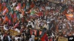 بھارت میں حکومت مخالف ایک مظاہرہ : فائل فوٹو