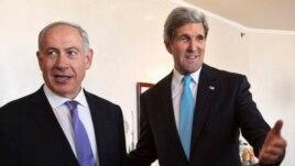 U.S. Secretary of State John Kerry meets Israeli Prime Minister Benjamin Netanyahu in Jerusalem, June 28, 2013.