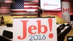 Pripreme za govor Džeba Buša u Majamiju