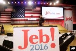 Cựu thống đốc tiểu bang Florida Jeb Bush cam kết cải tổ Washington và cải thiện hình ảnh của Mỹ ở nước ngoài.