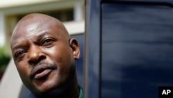 Le président Pierre Nkurunziza du Burundi après la tentative de coup d'Etat