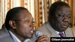 Simba Makoni and Morgan Tsvangirai