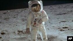 Buzz Aldrin (Foto: Neil Armstrong/NASA via AP)
