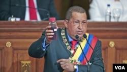 Presiden Venezuela Hugo Chavez (13/1).