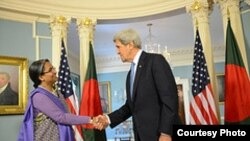 Bangladesh FM Dr. Dipu Moni meets US FS John Kerry