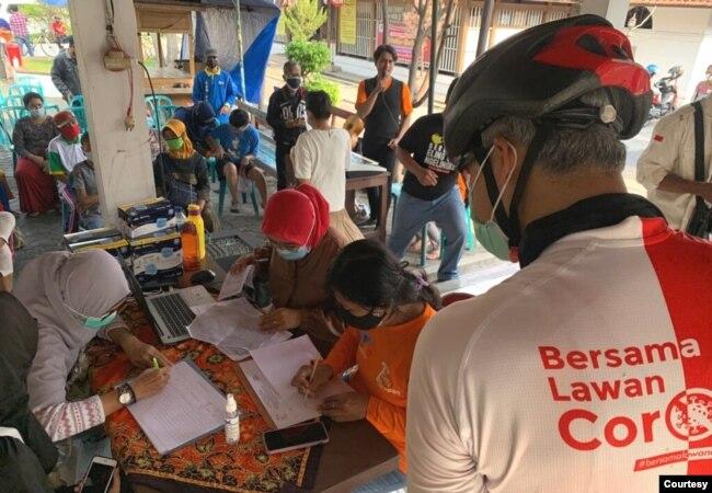 Vaksinasi bagi difabel di Semarang, Jawa Tengah yang akan berlangsung hingga Oktober. (Foto: Humas Pemda Jateng)