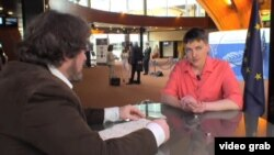 Надежда Савченко на июньской сессии ПАСЕ, Страсбург