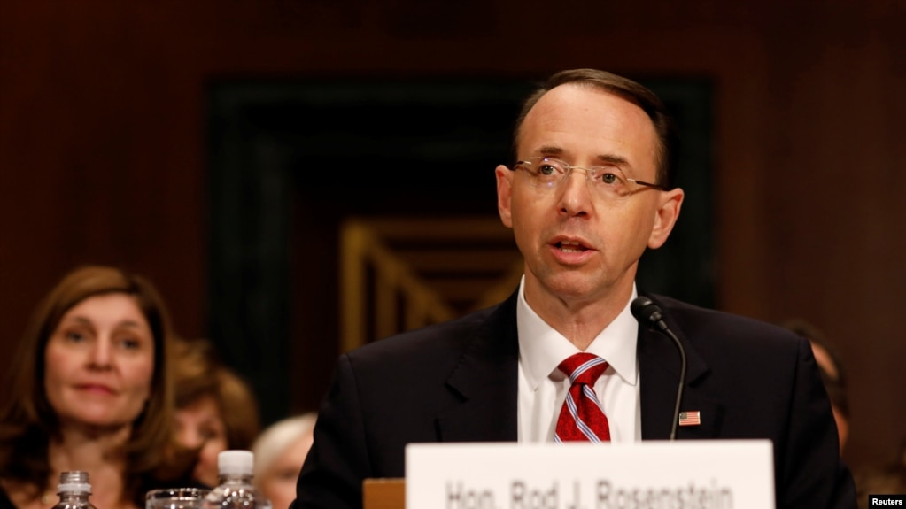Image result for IMAGES OF ROD ROSENSTEIN AT HEARING