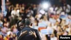 Predsednik Obama i prva dama Amerike Mišel Obama na prošlonedeljnoj konvenciji demokratske stranke