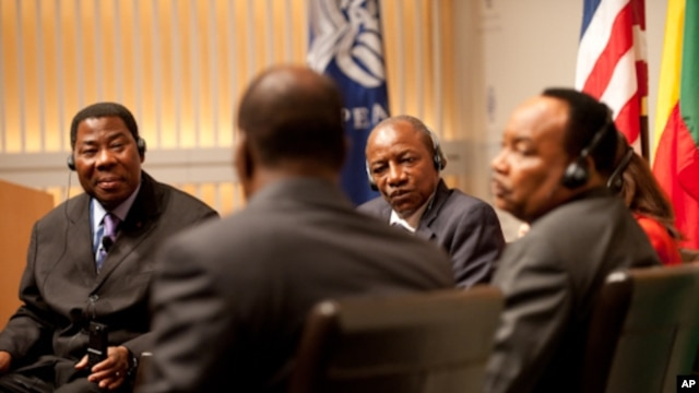 The four West African leaders said U.S. support for democracy has been crucial in recent years.