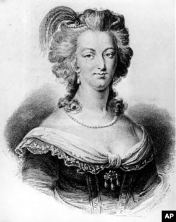 FILE - An undated portrait of Marie Antoinette.