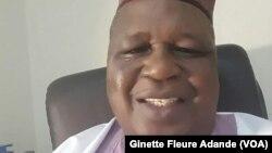Le président de la Haute autorité de l'audiovisuel et de la communication, Adam Tessi Boni, à Cotonou, au Bénin, le 4 décembre 2016. (VOA/Ginette Fleure Adande)