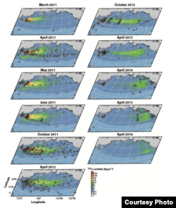 Fukuşima faciasının ardından okyanusa yayılan radyasyon miktarı (Ken Buesseler)