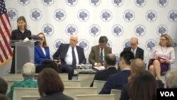 6일 워싱턴의 미 평화연구소에서 북한 문제 등에 관한 토론회가 열렸다.