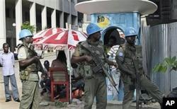 Des Casques bleus à Abidjan