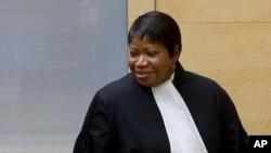 La procureure de la Cour pénale internationale (CPI), 8 octobre 2014.