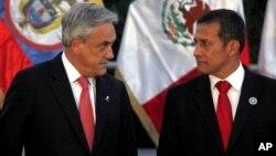 Los presidentes de Chile, Sebastián Piñera, y de Perú, Ollanta Humala, visitarán la Casa Blanca el 4 y el 11 de junio respectivamente.