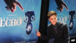 Teo Halm arrives at The Los Angeles Film Festival Earth to Echo Premiere at Regal Cinemas L.A. Live Stadium.
