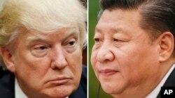 도널드 트럼프(왼쪽) 미국 대통령과 시진핑 중국 국가주석.