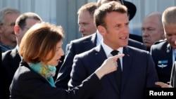 Shugaban Kasar Faransa Emmanuel Macron, Da Ministan Tsaron Faransa Florence Parly