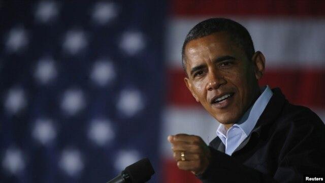 Obama speaking in Ohio