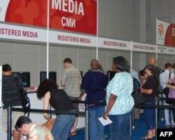 媒体代表在注册